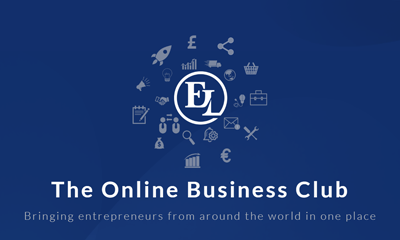 "online business club december logo - THE ORGANISERS FEATURE IN ""ENTERPRISE LEAGUE"""